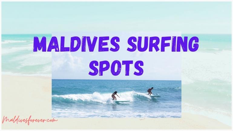 Maldives surfing spot